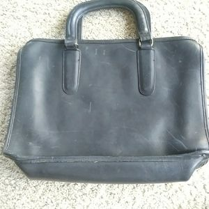 Couch small leather briefcase